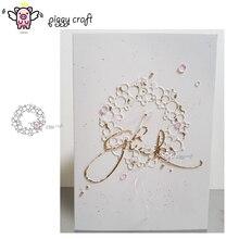 Manualidad de cerdito troqueles de corte de metal, plantilla de corte circular, anillo de burbuja, molde artesanal para corte de papel, plantillas para perforar con cuchillas