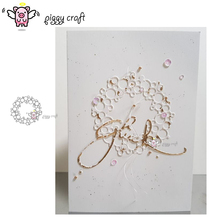 Piggy Craft metal cutting dies cut die mold Circle bubble ring Scrapbook paper craft knife mould blade punch stencils dies