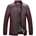 KUYOMENS High Quality Leather & Suede Men Autumn Leather Jackets And Coats Windproof PU Style Brand Men's Motorcycle Jacket