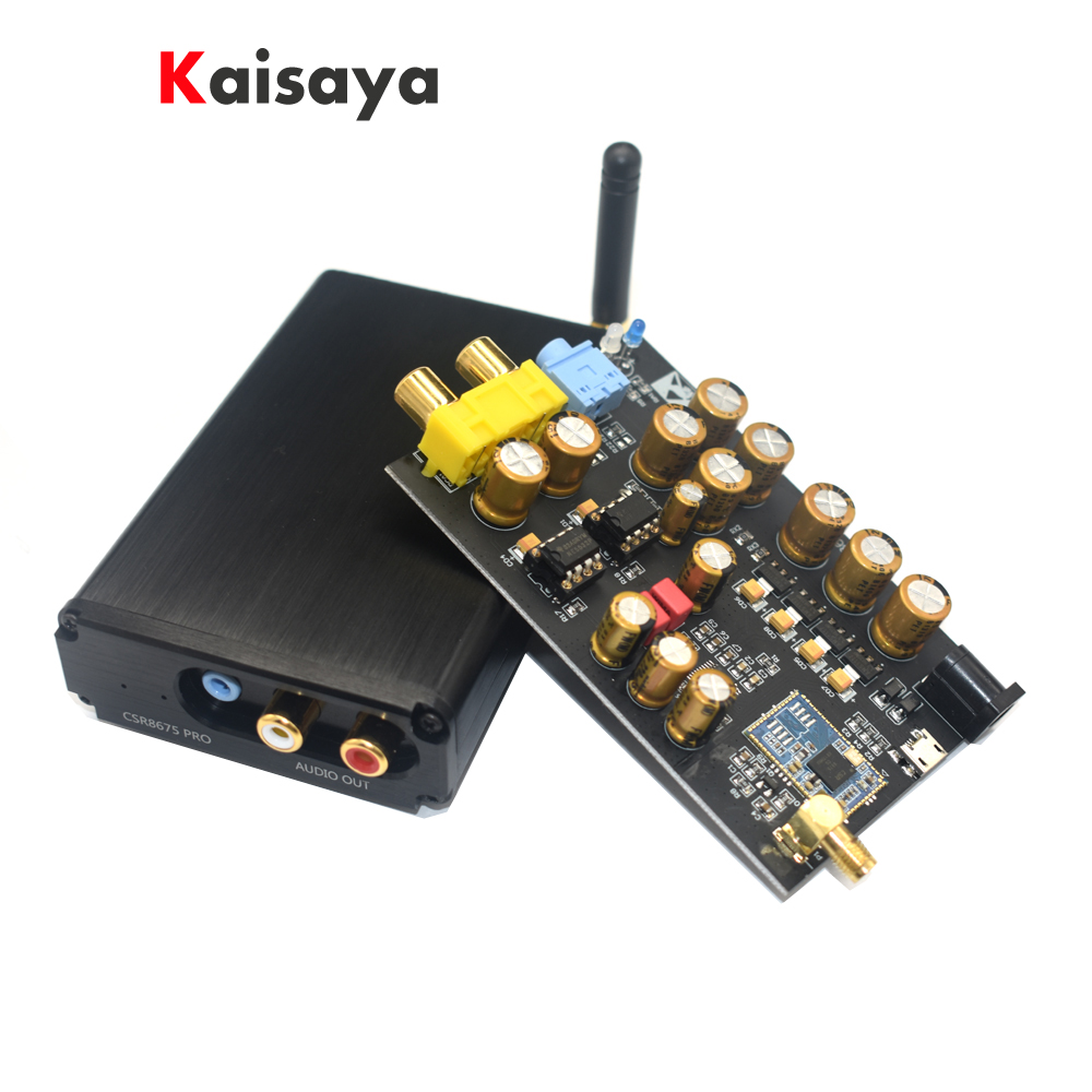 CSR8675 Bluetooth 5.0 APTX HD Wireless Receiver Board PCM5102A I2S <font><b>DAC</b></font> decoder Support 24BIT With Antenna A2-001 B3-001 image