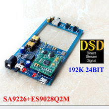 M9 MINI HIFI USB DAC DSD audio amp board decode board SA9926 ES9028Q2M OPA620SG *2 DAC  amplifier