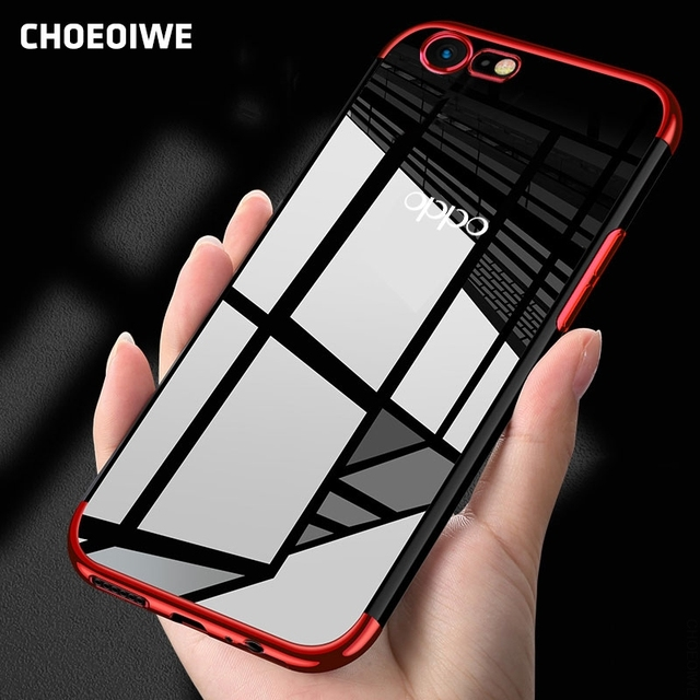 innovative design 36e2b d4a1f US $3.51 25% OFF|CHOEOIWE Cases for OPPO A57 Plating Soft Case Utra thin  Cover for OPPO A57 Silicone Transparent Phone Back Coque Shell-in Fitted ...