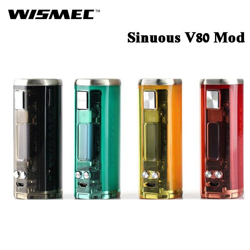 Wismec Original sinueux V80 80W sinueux V80 boîte MOD Vape électronique Cigarette vaporisateur Support Amor NSE réservoir RTA RDA RBA-in Cigarette électronique Mods from Electronique    1
