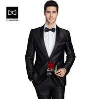 شال طوق الرجال أزياء تناسب الرجال العريس بدلة الزفاف سهرة يتأهل ثوب دعوى 2 أجزاء (سترة + بنطلون) أحدث معطف بانت تصاميم