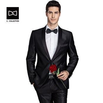 per tutta la famiglia scarpe eleganti Buoni prezzi Collo a scialle Tuta Uomo Da Sposa Sposo Vestito Degli Uomini di Modo  Tuxedo Slim Fit Dress Suit 2 P