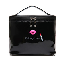 Pu Leather Cosmetic Bag Case For Women Brushes Organizer Makeup