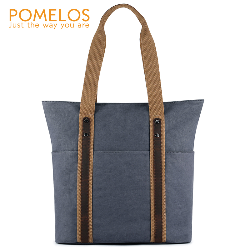 POMELOS Woman Bag 2019 Fashion High Quality Canvas Luxury Designer Shoulder Women Handbags Summer Tote Big Handbag
