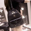 Double Shouler Bag New Women Pu Leather Backpack Blcak Girls Student School Bag Vintage Mochila Casual Rucksack Travel Daypack