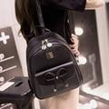 Double Shouler Bag New Women Pu Leather Backpack Blcak Girls Student School Bag Vintage Mochila Casual Rucksack Travel Daypack
