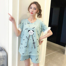 100% Cotton  Nursing Clothes for pregnant women Maternity pajamas breast-feeding clothes Lace Sleep home set feeding large yards new marenity clothing sleep clothes set pregant underwear women pajamas cotton sets spring summer nursing intimates j9203