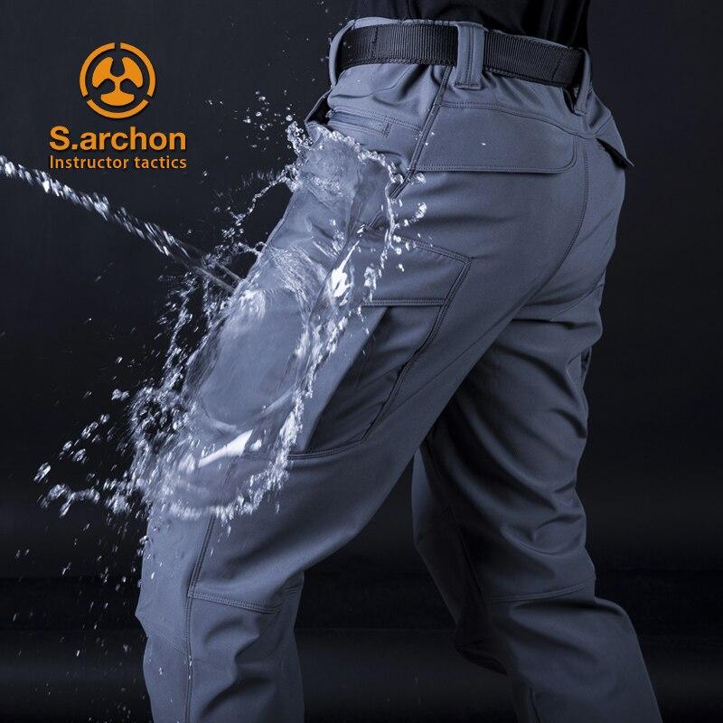 S.archon Instructor Tactics M2 Plus Velvet Trousers Fleecy Pants Mountaineering Pants Ski Man Multi Pockets Army Combat Pants