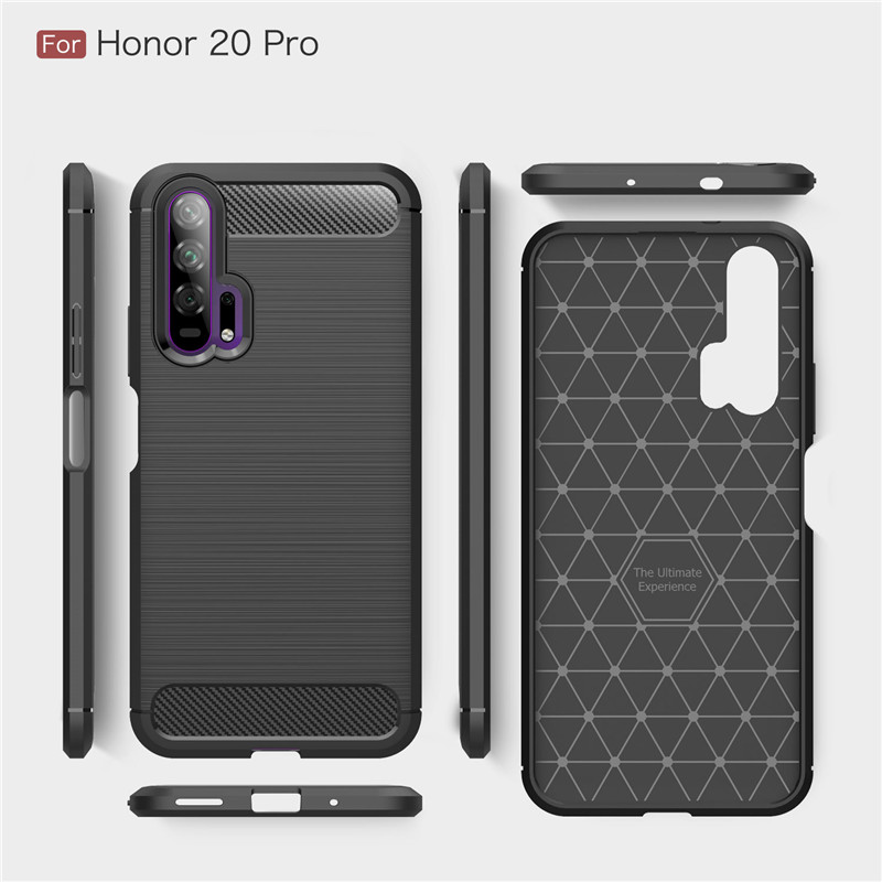 Image 5 - For Huawei Honor 20 Pro Case Armor Protective Soft TPU Silicone Phone Case For Huawei Honor 20 Pro Back Cover For Honor 20 Pro-in Fitted Cases from Cellphones & Telecommunications