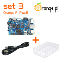 Orange Pi Kit  Plus 2 SET3: Plus 2+Transparent Acrylic Case+Power Cable  Compatible for Plus2 not for  Raspberry