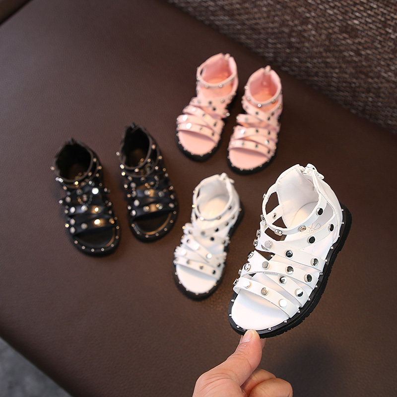 12-14cm Pu Leather White Fashion 0-2t Baby Sandals Child Girl Black Baby Sandals Pink Child Shoes