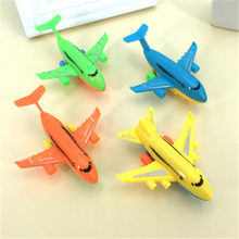 2Pcs Children Plane Model Aircraft Inertial Foam EPP Airplane Toy Outdoor Fun Toys Hand Launch Throwing Glider Air Bus(China)