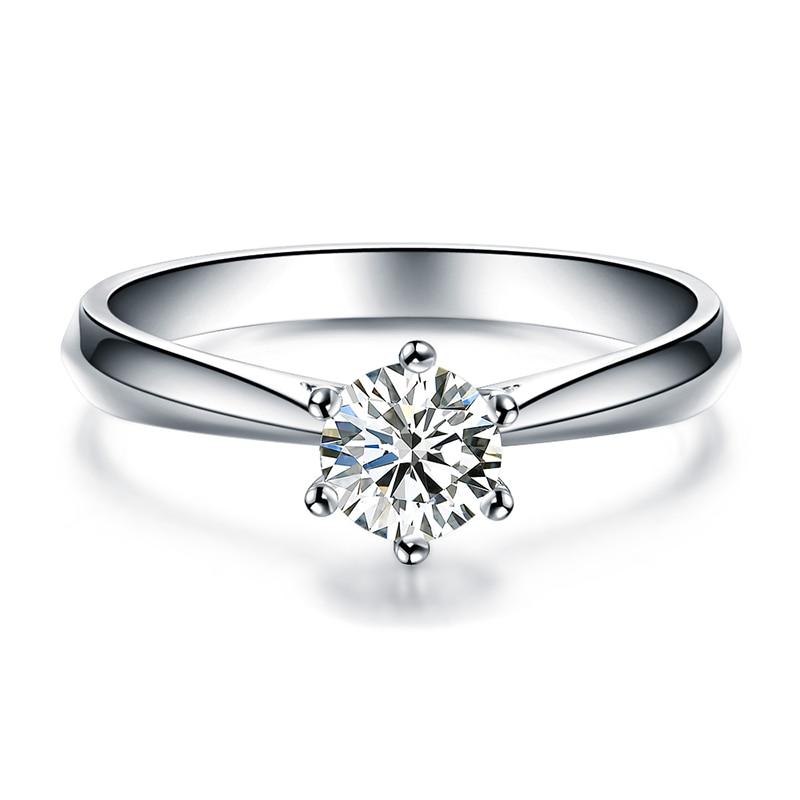 ZOCAI Abad Klasik Nyata 0.18 CT D-E / SI Berlian Engagement Wanita - Perhiasan bagus - Foto 3