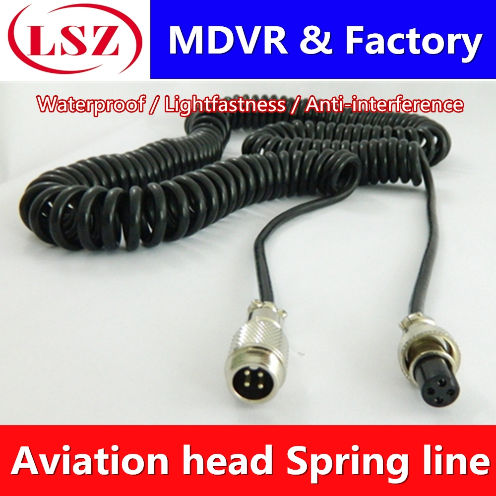 Factory Direct Car Surveillance Camera Air Line 8M Spring Airline Extension Line Semi-trailer Clay Tanker Truck General