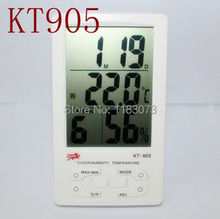 Buy Digital Outdoor Indoor Thermometer Hygrometer Big LCD Display Thermo-Humidity Meter Clock Calendar Alarm KT905 FreeShipping