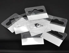 100Pcs Free Shipping White Packaging Display Cards In Jewelry Tags Hanging With Adhesive 4.1x3.2cm(1 5/8x1 2/8)