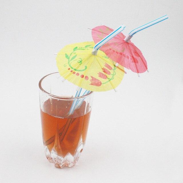 100 sztuk/partia Śliczne Photo Booth Parasol styl Słomy Na Ślub Urodziny Party Zdjęcie Party supplies Dzieci Zdjęcia Rekwizyty bezpłatną wysyłkę