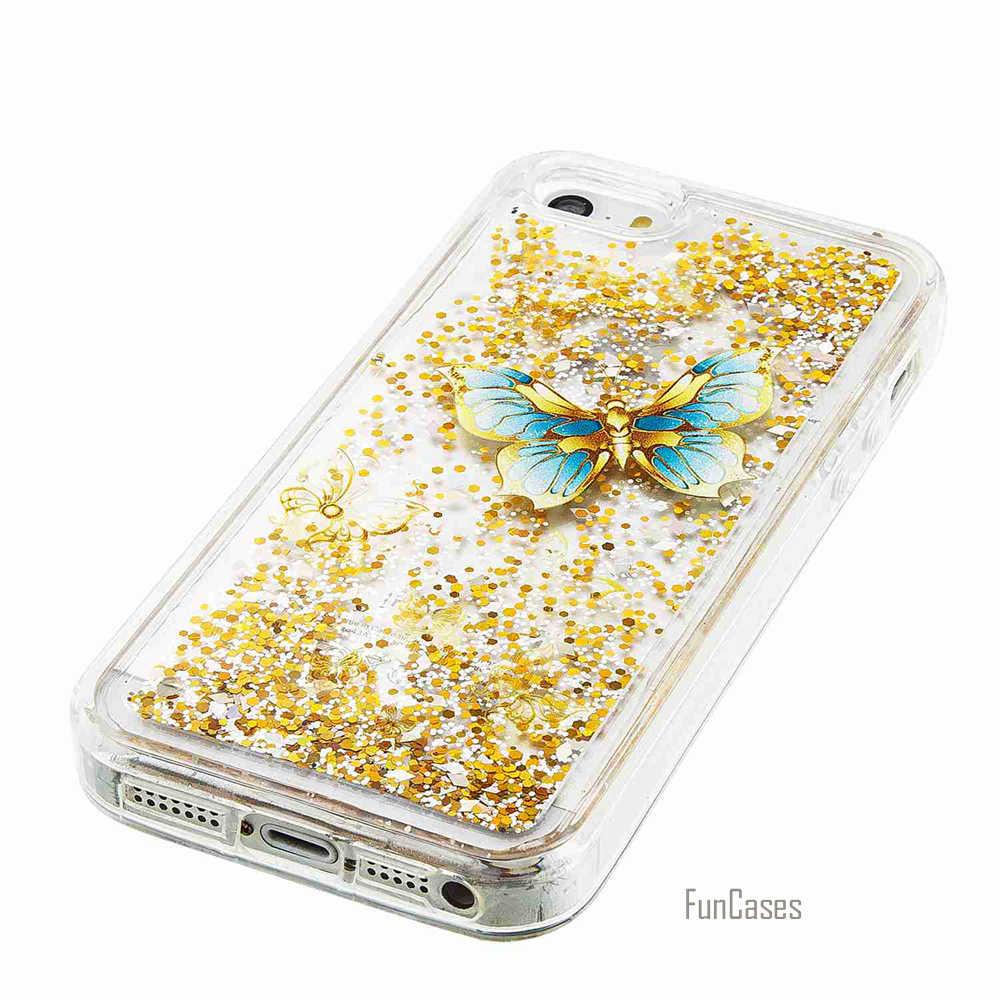 Для iPhone SE Funda Эйфелева башня Стиль зыбучий песок чехол для телефона iPhone 5 6 Plus 7 цветок кошка чехол для iPhone 5S 6 S 5C 4 4s крышка
