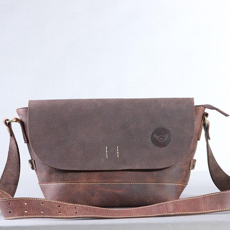 Aliexpress.com Comprar 100% cuero genuino cruzada cuerpo bolsa bolsos pequeños hombres nueva moda primera capa de cuero de vaca hombres de Messenger Bag