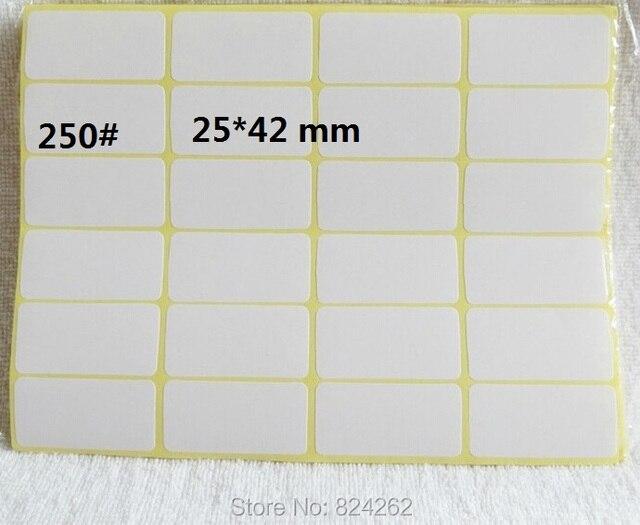 250 size 25 x 42 mm 48pcs lot blank sticker label blank label sticker