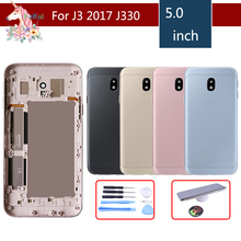 For Samsung Galaxy J3 2017 J3 Pro J330 J330F J3 pro Housing Battery Cover Door Rear Chassis Back Case Housing Replacement стоимость
