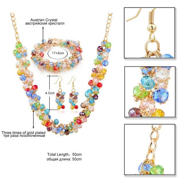 Женский комплект ювелирных изделий chicvie набор золотого цвета