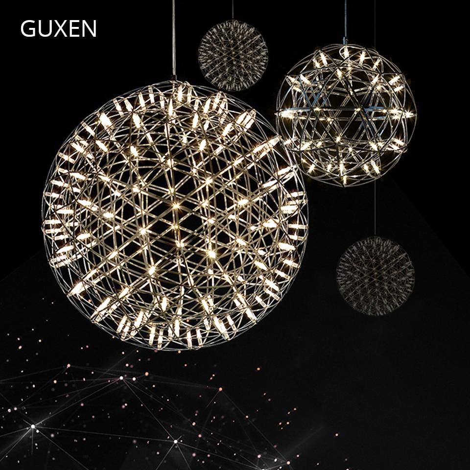 Nordic postmodern chandelier Gypsophila Sparkling Chandeliers 20cm/25cm/30cm/40cm diameter Metal plate spherical light led pool balls light diameter 25cm