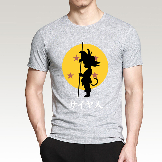 Anime Dragon Ball Z Goku Cartoon Men T Shirts 2017 Summer Men Short Sleeve Shirt 100% Cotton T-Shirts Slim Fit Brand-Clothing
