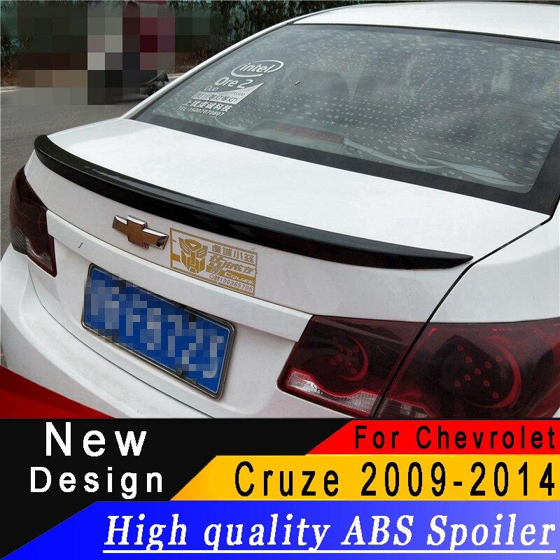 Для Chevrolet Cruze 2009 до 2014 спойлер высокое качество абс материал грунтовка или любой DIY Цвет автомобиля задний спойлер для Cruze