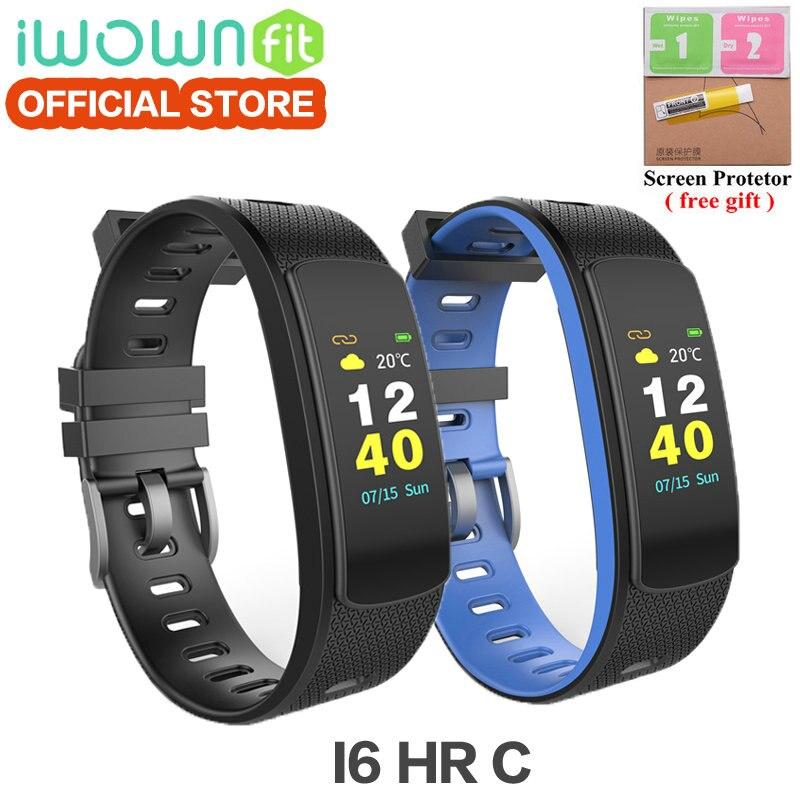 Neue Farbe Bildschirm IWOWN i6 hr c smart armband IWOWNFit i6 HR C Smartband mit Pulsmesser Armband mit Fitness Tracker