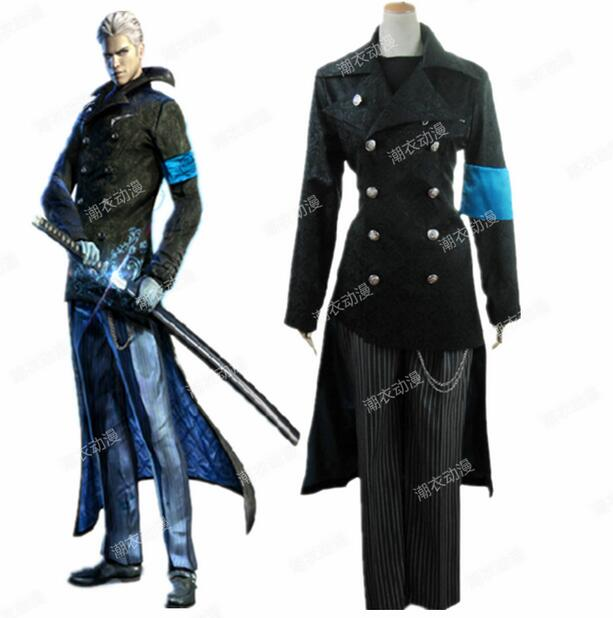 Devil may cry dmc 5 vergil black cosplay trench coat costume devil may cry dmc 5 vergil black cosplay trench coat costume halloween free shipping in anime costumes from novelty special use on aliexpress voltagebd Images
