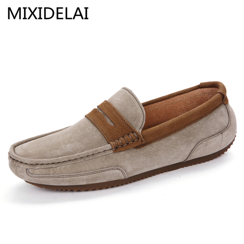 New Genuine Leather men flat shoes Fashion Soft Moccasins men loafers Flats driving Peas Shoes Fashion Casual shoes Hot Sale new arrival high genuine leather comfortable casual shoes men cow suede loafers shoes soft breathable men flats driving shoes