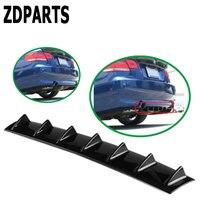 ZDPARTS Car Shark Fin 7 Wings Bumper Spoiler Stickers For Audi A3 A4 B7 B8 B6 C6 C5 Nissan Qashqai Juke X trail T32