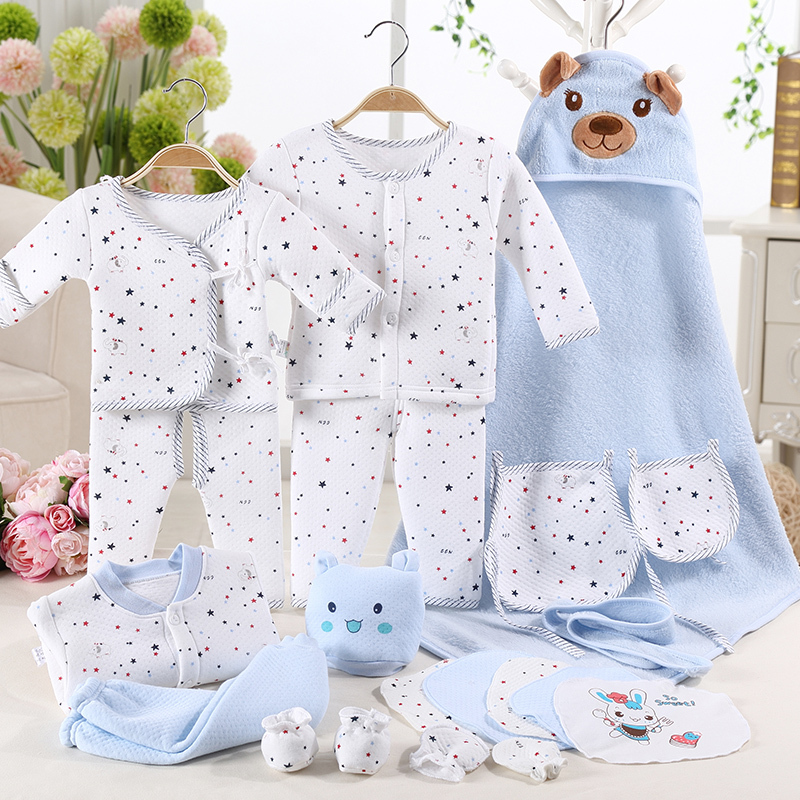 100% cotton baby clothes newborn gift box autumn and winter the newborn baby products baby set
