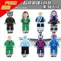 8PCS PG8006 Building Blocks Super Clvil War Wolverine/Quick Silver/Rogue/Professor X/Psylocke/Iceman/Mystique Toys Lepin