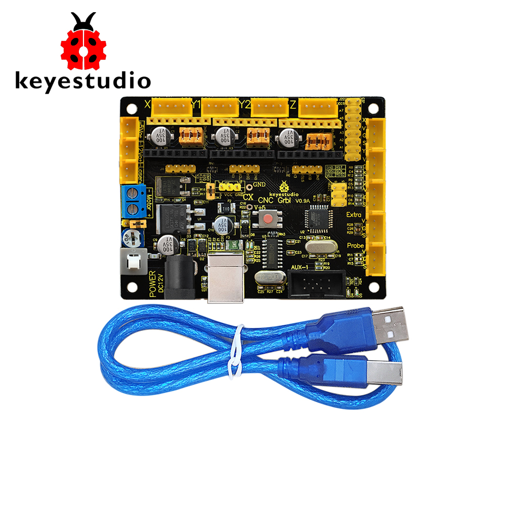 New Keyestudio CNC GRBL V0.9 Shield Board +USB Cable For Arduino CNC/Laser Engraving