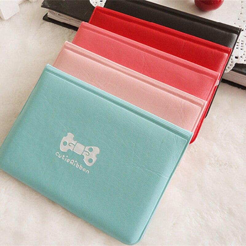 bow print PVC High Quality women business card holder embossed kawaii cute bank credit cover 12 bit korean fashion porte carte