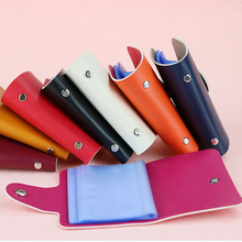 Gifts Credit Card Holder Men Women Travel Cards Wallet PU Leather Buckle Business ID Card Holders Popular randomly shipping