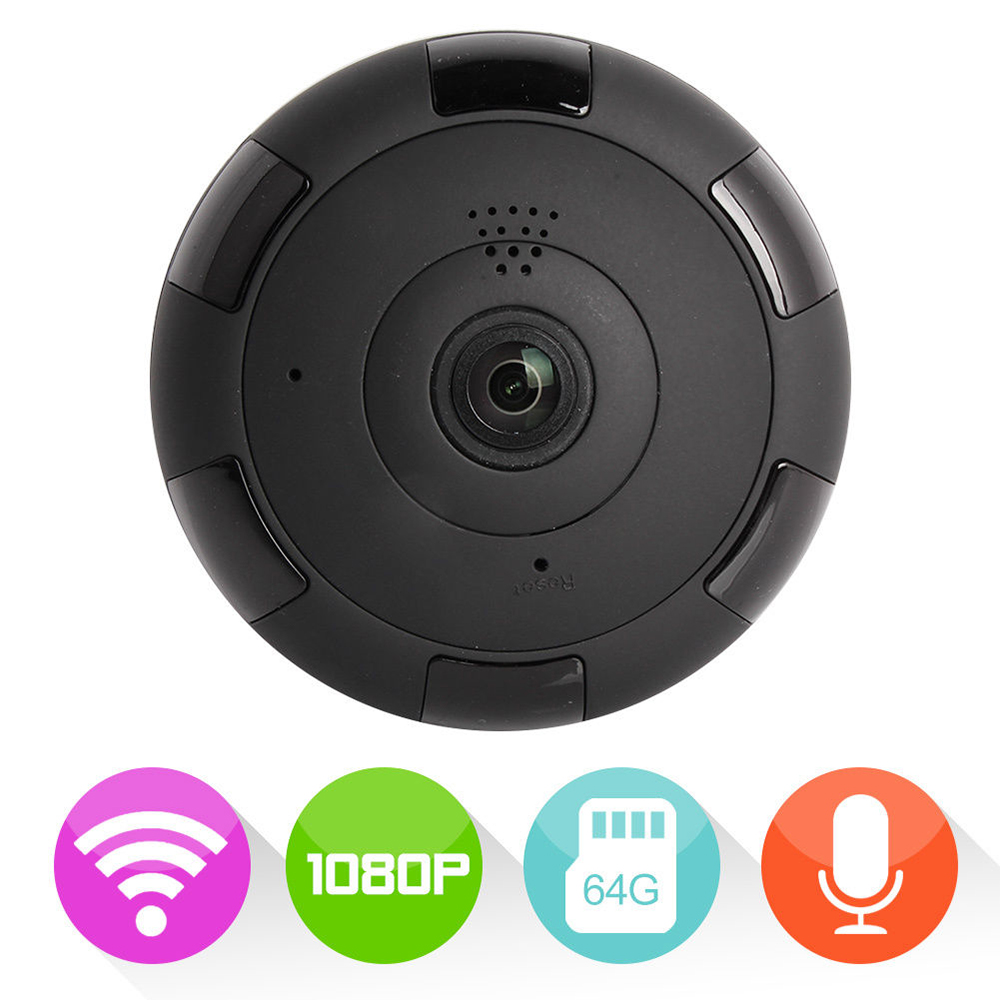 JCWHCAM New WIFI IP Camera 360 Fisheye Panoramic Dome Camera 2MP 1080P CCTV Night Vision Video Surveillance Security
