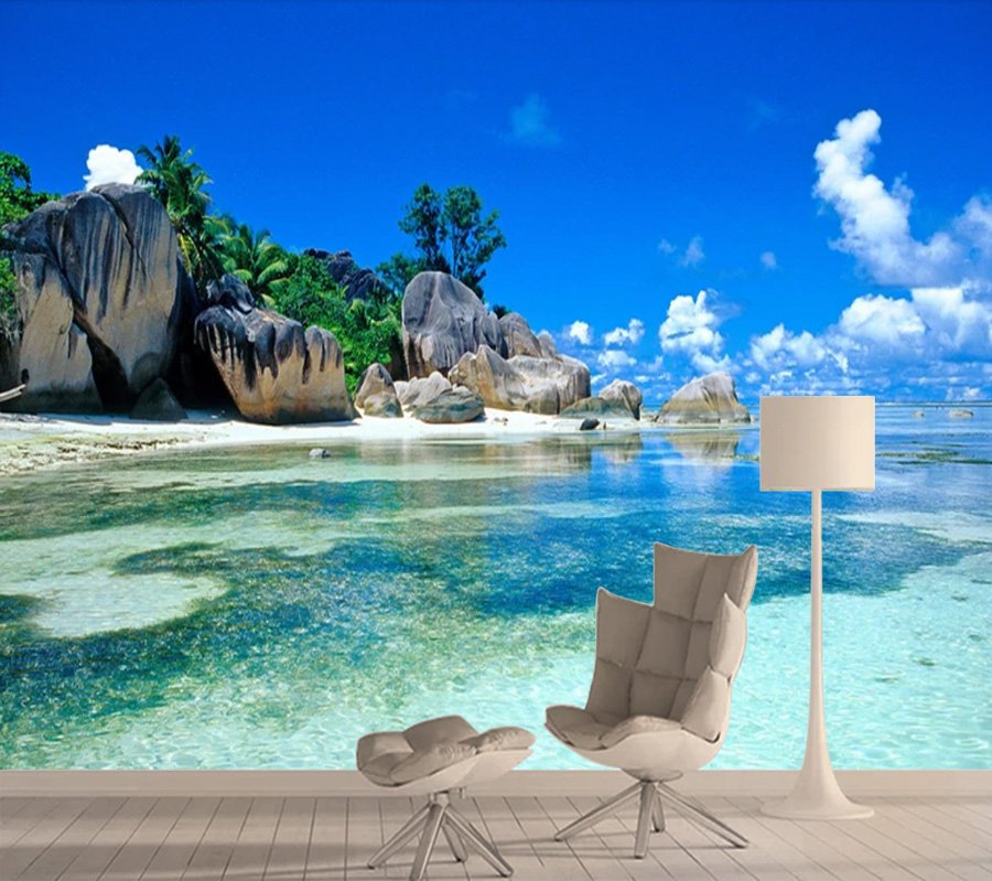 Top 8d Photo Wallpaper 3d Seaview Murals Wallpapers For Living Room Bedroom Wall Papers Home Decor Paper 3d Mural Walls Rolls