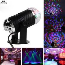 LED stage lighting Colorful rotating lights Laser small ball Professional KTV light effect lamp Straight magic ball Wedding Bar цены
