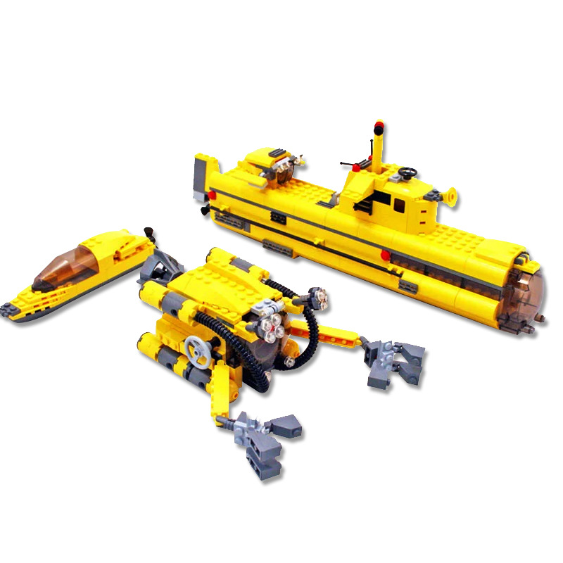 Lepin 24012 673pcs Creator series Underwater Explora Ship Building Blocks set Bricks Toys For Children compatible 4888 Gift 8 in 1 military ship building blocks toys for boys