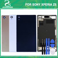 Full Housing LCD Panel Middle Frame Case Battery Door Cover Side Button For Sony Xperia Z5 5.2 Single Dual Card