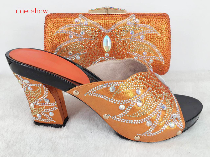 doershowAfrican Style Nice-looking Italian matching shoes and bag set ladies shoes and bag to match for Nigerian wedding Hlu1-38 mymei золотой цвет