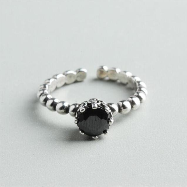 New Original Design Las Rings Jewelry Plated Silver Ring For Women Wedding Round Rcrystal Ing Bands