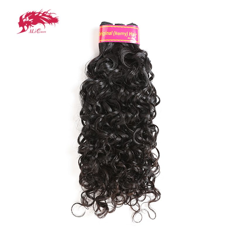Ali Queen Hair Brazilian Water Wave 1 3 4 Pcs Remy Hair Machine Double Weft 100