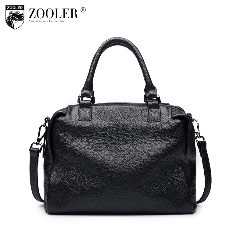 sales Zooler Brand woman leather bags solid shoulder bags top handle top material cowhide bag bolsa feminina#B112 new product sales zooler brand zipper cowhide bag top handle shoulder bag simply solid genuine leather bag women bag bolsas c108